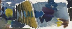Ivon Hitchens (British, Poplar Lake, Oil on canvas, 18 x 43 in. Abstract Landscape Painting, Landscape Paintings, Abstract Art, Action Painting, Painting & Drawing, Archaeology, Painters, Watercolour, Oil On Canvas