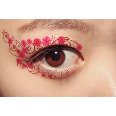 1 Pair Eye Temporary Tattoo Makeup Eyeshadow applique Pink Verbana... ($4) ❤ liked on Polyvore featuring beauty products, makeup, eye makeup, eyeshadow, eyes, tattoos, masquerade masks and masquerade eye makeup