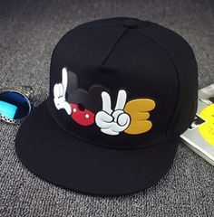 Radient Childrens Mickey Ears Hip-hop Cap Size Adjustable Cartoon Hat Unisex Outdoor Shade High Quality Spring And Summer New Products 50% OFF Boy's Accessories
