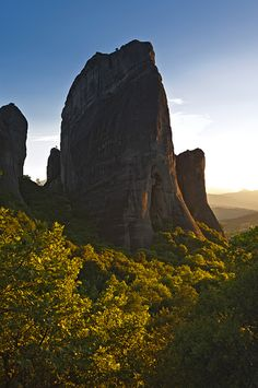 "The Metéora (Greek: Μετέωρα, ""suspended rocks"", ""suspended in the air"" or ""in the heavens above"" – etymologically similar to ""Meteorite"") is one of the largest and most important complexes of Eastern Orthodox monasteries in Greece."