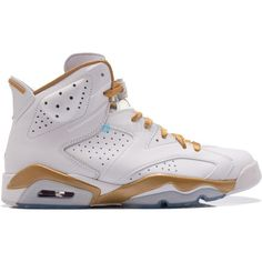 free shipping b0d32 56a98 Air Jordan VI (6) Golden Moments ( 325) ❤ liked on Polyvore featuring