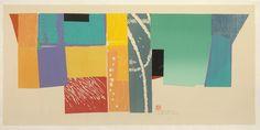 Naoko Matsubara - Tagasode, 2014, Woodcut print, Edition of 6, Image 30 x 72 inches, 76.2 x 182.9 cm