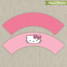 Blank banner hello kitty and banners on pinterest for Giant cupcake liner template