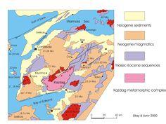 Biga Yarımadasının Jeoloji Haritası –geological Map Of The