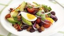 Mexican Bean Salad.    @Zarifa Waight I thought about you with this one. :)