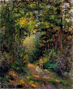 """""""Autumn, Path through the Woods"""" - Camille Pissarro - Completion Date: 1876"""
