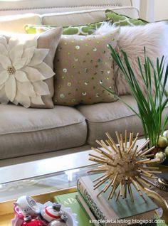 diy sequin pillow...simple bling! - Simple Details