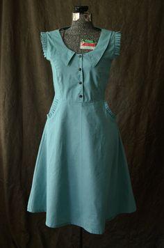Dress / 1930s Dress / Peter Pan Collar Dress / by LetsBacktrack
