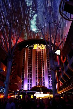 The Plaza, Las Vegas Nevada, as viewed from Fremont Street.