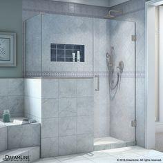 Dreamline Unidoor Plus 59-In To 59-In Frameless Brushed Nickel Shower Door