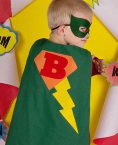 Super Hero Cape and Mask for boys and girls by AllDressedUpCouture, $30.00