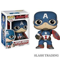 POP Marvel: Avengers 2 - Captain America from Funko. The Age of Ultron is upon us and the Avengers are here in Pop form to save the day. This Captain America po Funko Pop Marvel, Marvel Avengers, Avengers Film, Marvel Comics, Marvel Fan, Captain America Civil War, Captain America Figure, Capt America, Captain America Merchandise
