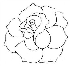 roses drawings   Simple Rose Drawing   House decor   Pinterest ...