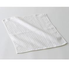 わた音 しゅす織り ハンカチタオル オフホワイト 630yen まるでシルクのような輝き!肌ざわりふわふわなめらかタオル