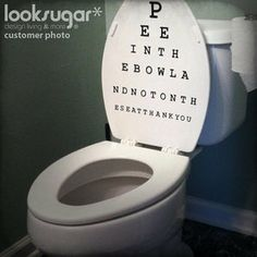 Eye Chart Decal-Snellen Chart by look sugar.  LOVE IT!!!
