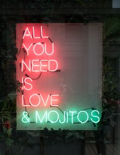 All you need is love and mojitos (or margaritas)
