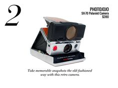 the most beautiful polaroid camera ever. Original design: Charles and Ray Eames.