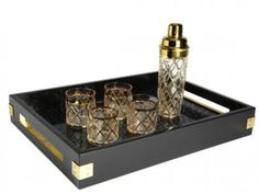 Martini Shaker, Glasses and Tray by Altuzarra