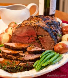 Roasted Boneless Lamb with Red Wine Pan Sauce - Perfect for a traditional Easter dinner. I would have to have this with a Keith Tulloch Forres Blend