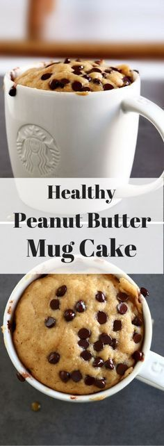 This Healthy Peanut Butter Mug Cake is scrumptiously delicious and can be whipped up in It is refined sugar free, gluten-free and can even be made to be vegan. desserts microwave Healthy Peanut Butter Mug Cake - Baking-Ginger Healthy Dessert Recipes, Healthy Desserts, Delicious Desserts, Yummy Food, Mug Cake Healthy, Cake Recipes, Tasty, Easy Desserts, Yummy Healthy Food