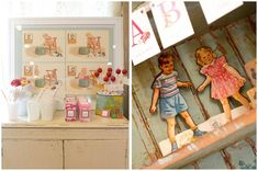 vintage school themed 1st birthday party or baby shower for boy or girl