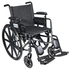 Drive Medical C420ADDASVELR Cirrus Iv Lightweight Dual Axle Wheelchair With Adjustable Arms Silver Vein <3 Click the VISIT button to view the details