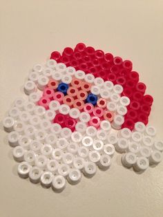 Christmas Santa hama beads by Lone Dyrby