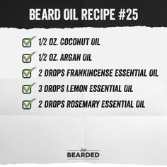 Looking for a good beard oil? We'll show you how to craft the perfect beard oil recipe from home, and show you step by step what you need to do! Diy Beard Oil, Beard Oil And Balm, Best Beard Oil, Beard Balm, Oil For Beard, Beard Shampoo, Homemade Body Butter, Beard Designs, Beard Model