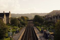 """A journey of a thousand miles begins with a single step.""Oldfield Park Railway Station, just a few yards from my flat. Bath, England."