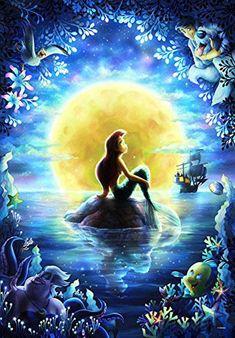 Cartoon Drawing Ideas Disney Jigsaw Puzzle Ariel Little Mermaid brilliant color FS Mermaid Wallpapers, Little Mermaid Art, Disney Drawings, Disney Little Mermaids, Disney Wallpaper, Disney Paintings, Art, Cross Paintings, Little Mermaid Painting