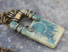 Stoneware Clay Necklace - Through The Window. $26.00, via Etsy.