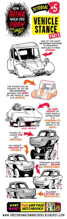 Drawings - how to think when you draw vehicles with stance poise and personality Illustrator Tutorials, Art Tutorials, Drawing Tutorials, Illustration Art Drawing, Art Drawings, Draw Tips, Doodle Drawing, Graffiti, You Draw