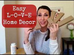 Mod Podge LOVE Home Decor - YouTube