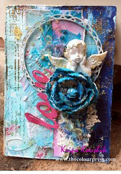 "July is a milestone month for The Mixed Media Card Challenge -- we enter into our second year! Can you say ""Yay!"" We have 7 new awesome des. Mixed Media Cards, New Theme, Challenges, Paper Crafts, Handmade, Blue, Painting, Art, Art Background"