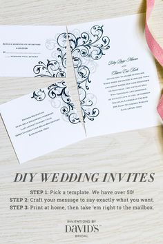 The easiest way to design your own wedding invites.