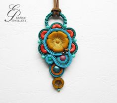 Editgyöngyei: augusztus 2017 Soutache Pendant, Soutache Jewelry, Shibori, Beaded Embroidery, Brooch, Christmas Ornaments, Beads, Holiday Decor, Jewellery