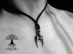 Mens Necklace Silver Sterling Silver Necklace for Men by LeMythe