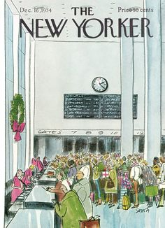 The New Yorker - Monday, December 16, 1974 - Issue # 2600 - Vol. 50 - N° 43 - Cover by : Charles Saxon