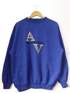 94d6c127122b Valentino Vintage 90's Anrico Valentino Big Logo Spell Out Sweatshirt  Pullover Jumper Size Large Size US