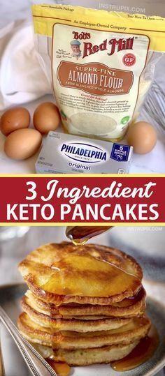 Keto Cream Cheese Pancakes, Low Carb Pancakes, Pancakes Easy, Cream Cheeses, Ketogenic Recipes, Low Carb Recipes, Ketogenic Diet, Healthy Recipes, Quick Recipes