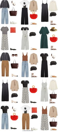 Capsule Wardrobe How To Build A, Capsule Wardrobe Summer, Work Wardrobe, Fashion Capsule, Fashion Outfits, Travel Outfits, Facon, Minimal Fashion, Get Dressed