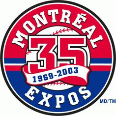 Montreal Expos Anniversary Logo (2003) - 35th Anniversary of the Montreal Expos