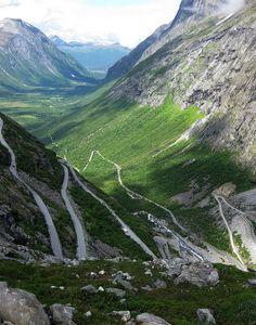 Trollstigen mountain road in   Møre og Romsdal, Norway (by wonky knee).