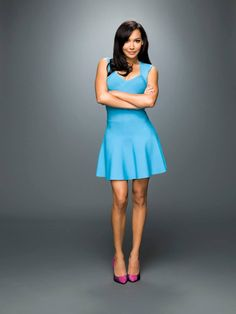 Naya Rivera as Santana Lopez in Glee Season 6