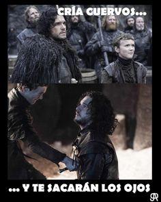 Meme de la muerte de Jon Nieve. Jon Snow's death.