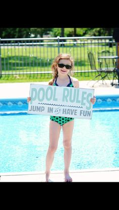 Pool Rules Vintage Style Typography Word Art Sign (for indoor use) on Etsy, $95.00