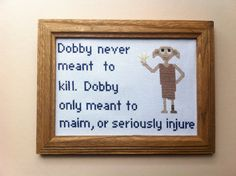 Harry Potter Dobby Cross Stitch Pattern: Buy 1 by DuctTapeStitches