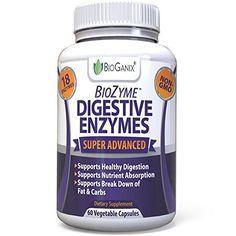 #1 DIGESTIVE ENZYMES | FOR IBS, GAS, BLOATING, DIARRHEA | BIOZYME BY BIOGANIX #Bioganix