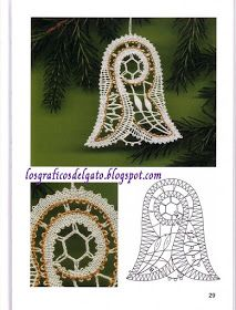 los gráficos del gato: NAVIDAD BOLILLOS Christmas Cross, Christmas Ornaments, Bobbin Lace Patterns, Lace Heart, Lace Jewelry, Lace Making, Lace Detail, Crochet Earrings, Cross Stitch