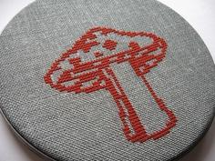 mushroom cross stitch